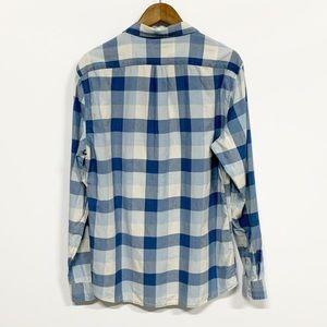 Marine Layer Shirts - Marine Layer | Blue Checkered Button Down Shirt L
